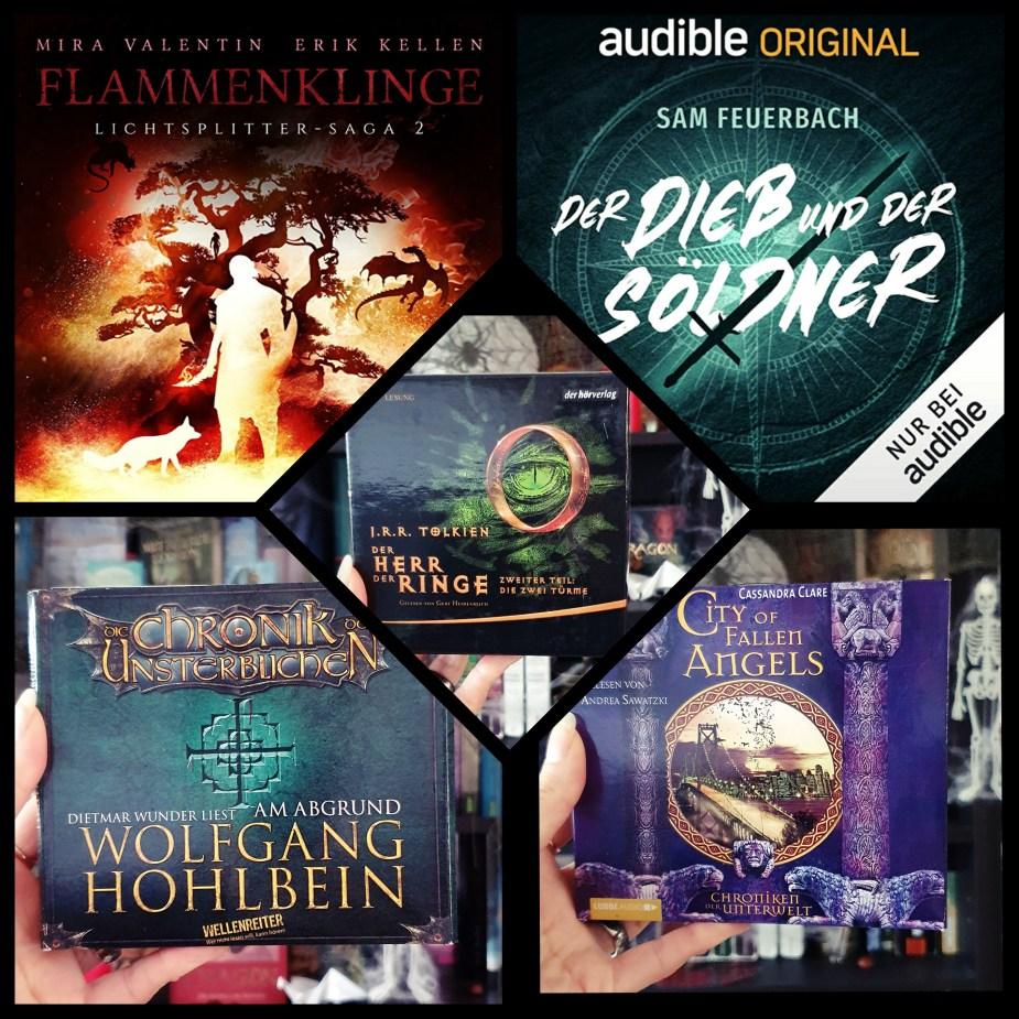 Büchercollage - Oktober-Hörbücher