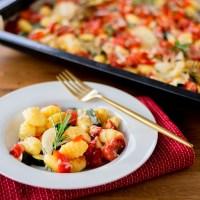 Ofen Gnocchi mit Gemüse