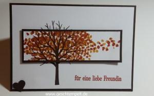 Baum der Freundschaft, Herbst, Geburtstagsgrüße für alle, Sheltering Tree