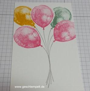 Stamin up, Masken-Technik, Anleitung in Bildern, Maskin-Technique, Tutorial, Balloon Builders, Partyballons
