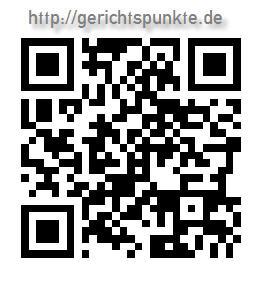 QR-Barcode http://gerichtspunkte.de - mit App auf Smartphone lesen und öffnen!