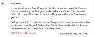 Tempelhof ist spießig (Quelle: spreeblick.com, Kommentare)