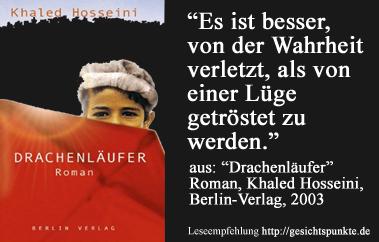 Leseempfehlung durch gesichtspunkte.de - Khaled Hosseini