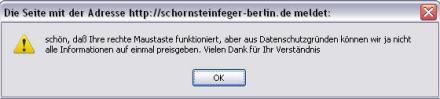 Schornsteinfeger-Website mit Usability