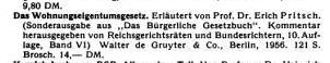 Neuerscheinung Wohnungseigentumsgesetz (1956)