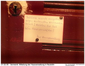Melden bein Hausverwalter! Berlin-Neukölln
