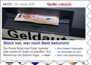 Webschnipsel - Geld bekommen!