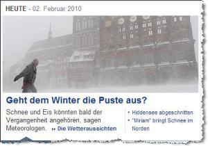 Screenshot Yahoo News - 02.02.2010