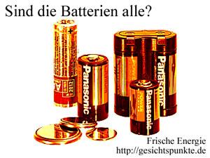 Batterien alle? Frische Energie: gesichtspunkte.de