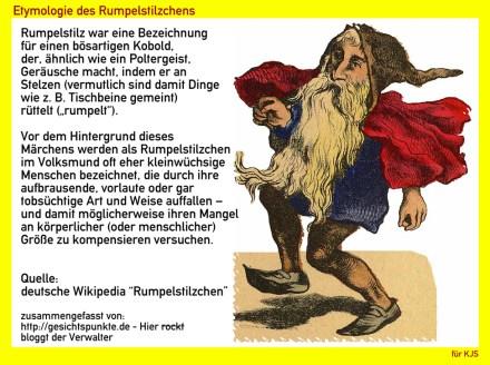 Rumpelstilzchen - Etymologie