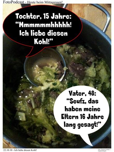 Schwarz-weiss: Stochern in der Kohlsuppe!