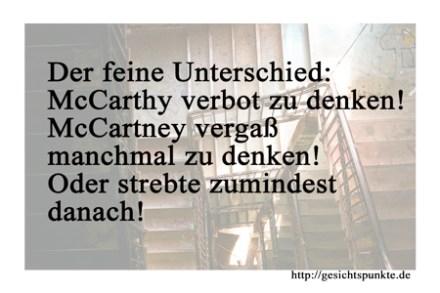 Der feine Unterschied: McCarthy & McCartney!