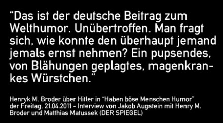 Anmerkung zu Hitler: das pupsende Würstchen