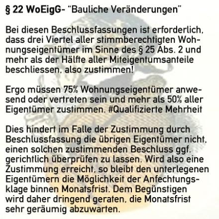 § 22 WoEigG - Bauliche Veränderungen