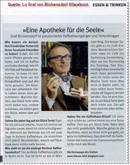 Lo Graf von Blickensdorf, Presseausriss!