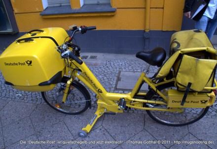 """Die """"Deutsche Post"""" ist quietschegelb und jetzt elektrisch!"""