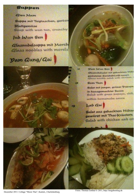 "Fotocollage ""Moon Thai"" - Restaurantkritik"