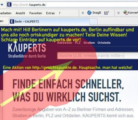 Banner Eintragsvorschläge auf kauperts.de
