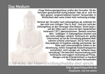 Hausverwaltungsbuddha 01.12 - Abrechnung nach Zahlungsfluss & Verbrauch