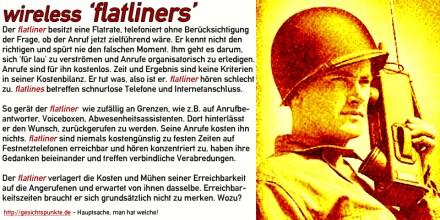 wiresless 'flatliners'