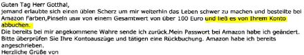 Übler Scherz mit Amazon.de