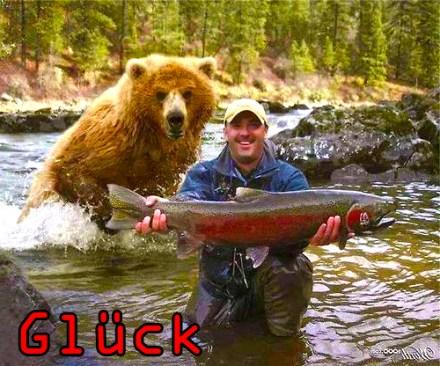#Glück #Lachs #Fisch #Bär (Sinnbild)