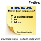 PostIt-Abreißblock Poppenen #WeThree