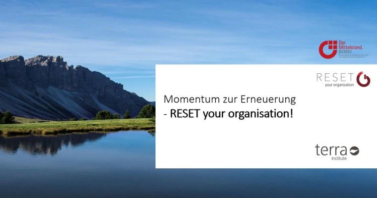 Der RESET-Prozess des Terra Institute: So können Unternehmen jetzt in eine erfolgreiche und nachhaltige Zukunft starten