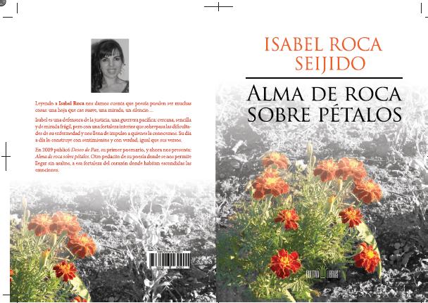 Alma de roca sobre petalos-poemas