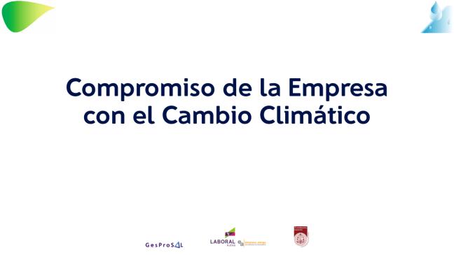 compromiso de la empresa con el cambio climc3a1tico