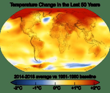 290px Change in Average Temperature