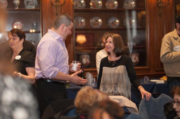 Joseph Lazauskas and NY Society Head Librarian, Carolyn Waters.