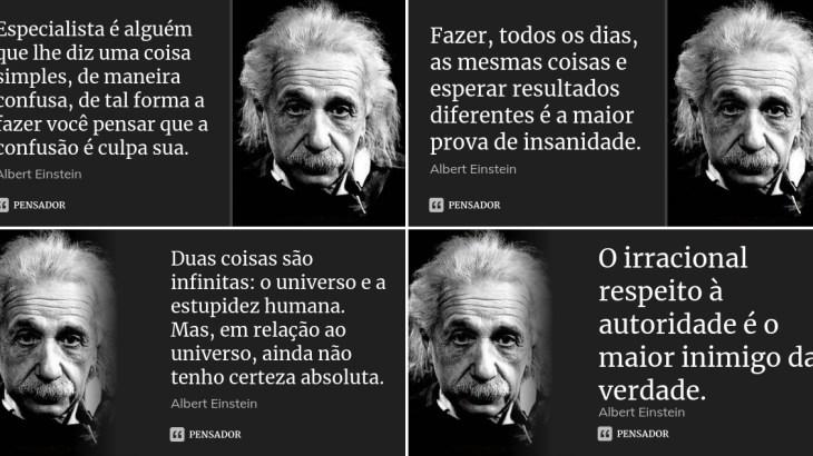 Pensamentos do Albert Einstein