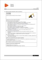 Estudio de Seguridad y Salud. Ficha de prevención para Retroexcavadora hidráulica sobre neumáticos