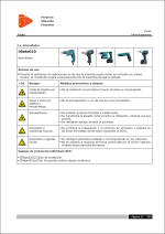 Estudio de Seguridad y Salud. Ficha de prevención para Atornillador