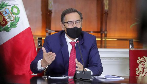 """""""En una investigación, estamos todos involucrados y… salimos todos en conjunto"""", se escucha decir al mandatario. (Foto: Presidencia Perú)"""