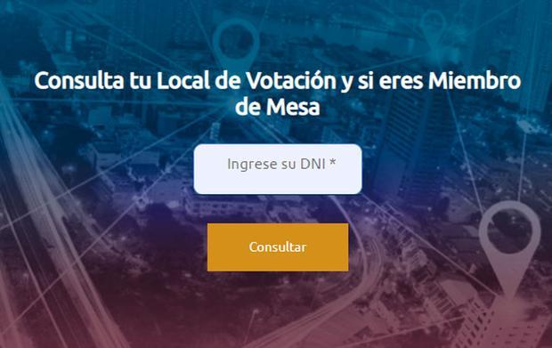 ONPE   Local de votación   DNI   LINK: cómo saber dónde me toca votar en  las elecciones presidenciales 2021   Perú   nnda nnlt   PERU   GESTIÓN