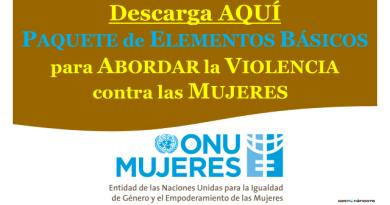 Descarga el Paquete de elementos básicos para abordar la violencia contra las mujeres