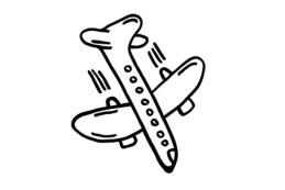 Flugzeug, Silhouette - Absturz