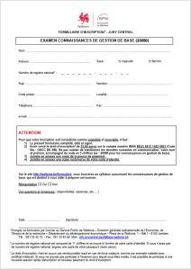 Formulaire d'inscription jury central de gestion wallon