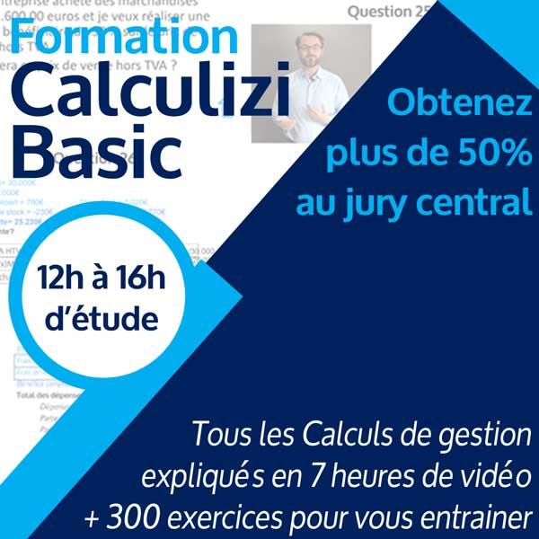 Image résumé formation gestion Calculizi Basic