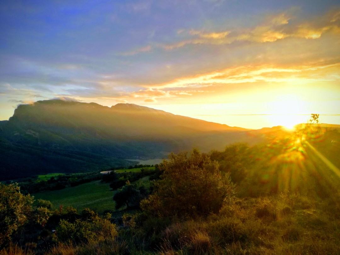 Atardecer en el Montsec, Terra Xamánica