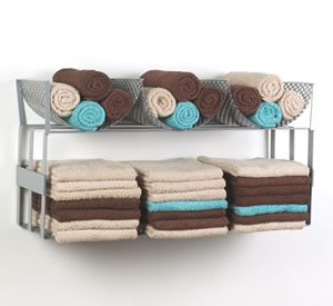 Fold and roll towel rack
