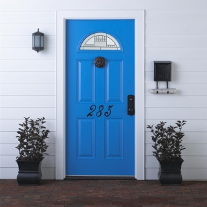 Blue Feng Shui Main Door