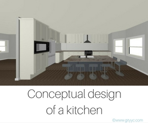 Conceptual design of a kitchen