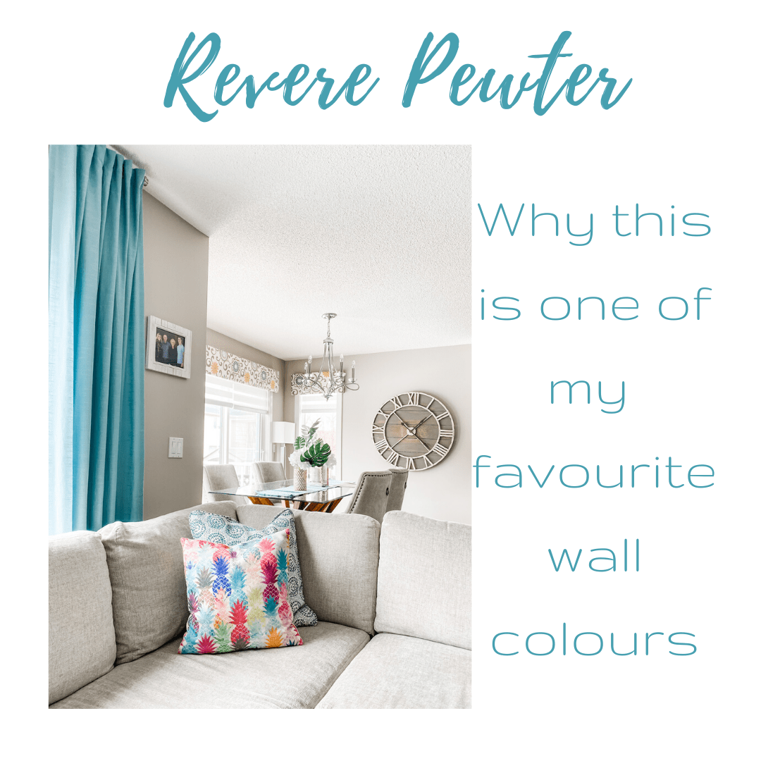 One Of My Favourite Interior Wall Colours Benjamin Moore Revere Pewter