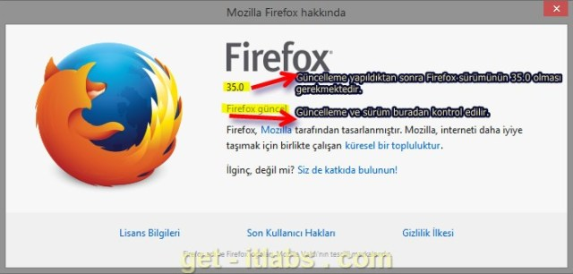 Firefox Update Check