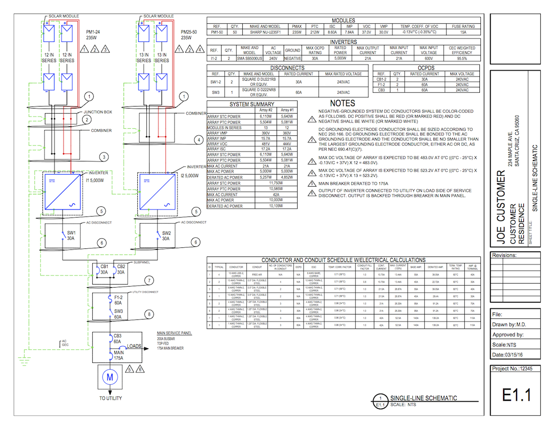 Solar Pv Solar Pv One Line Diagram
