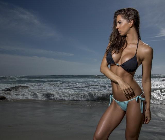 Janna Breslin Women Model Fitness Model Boobs Auburn Hair Belly Long Hair Blue Eyes Open Mouth