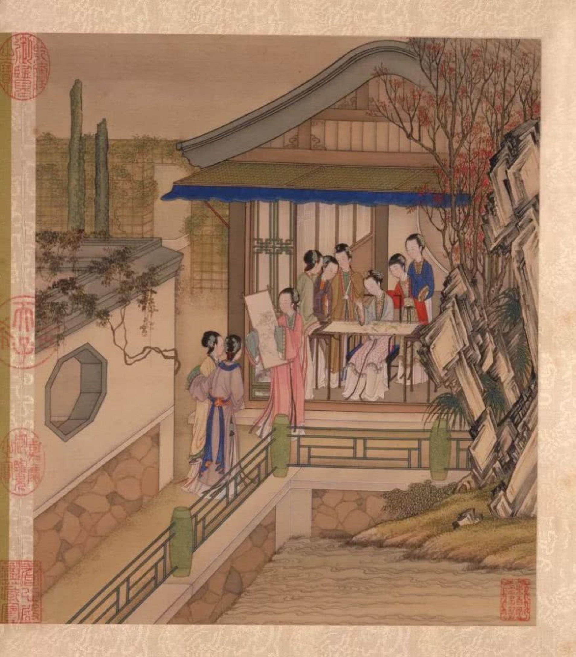 Chinesische Malerei Aquarell Auf Seide Vogel